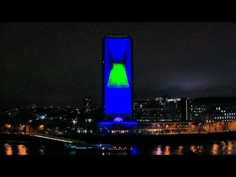 Nokia Lights up the Night with Deadmau5 at Miliband Tower, London, UK