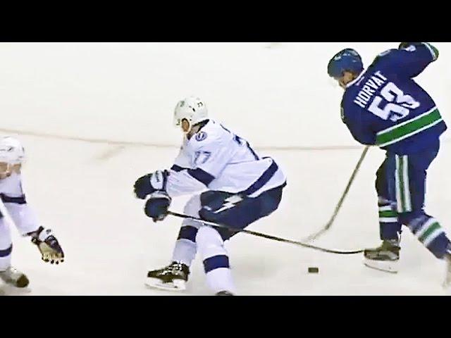 Horvat's slick dangle leads to Baertschi's goal