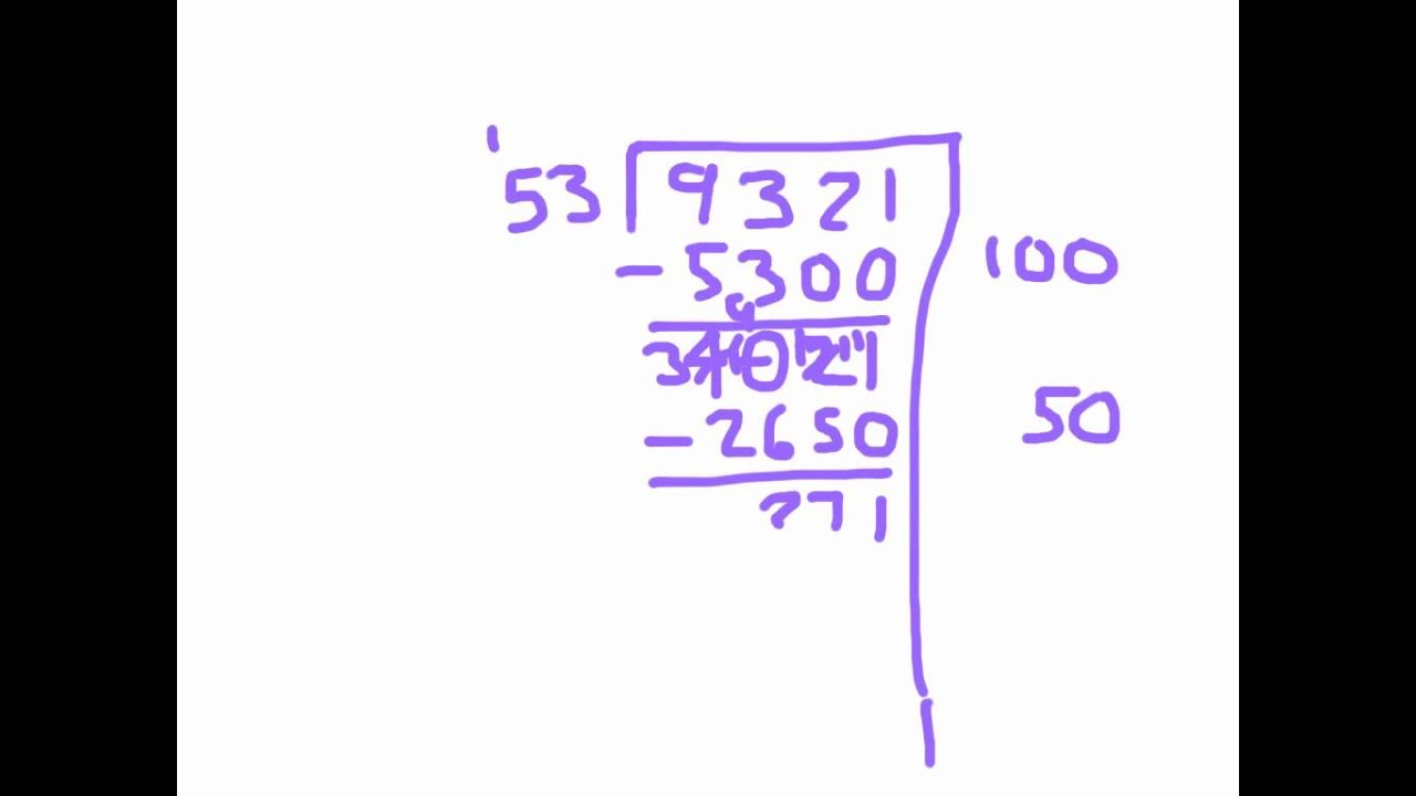 Division with Double Digit Divisors Using a Partial Quotients ...