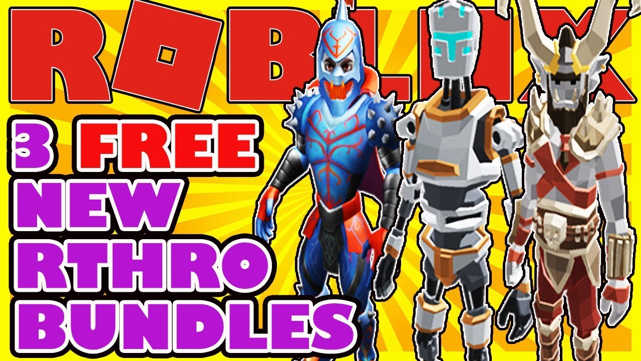3 New Free Rthro Bundles In Roblox The Harbinger Simple Robo