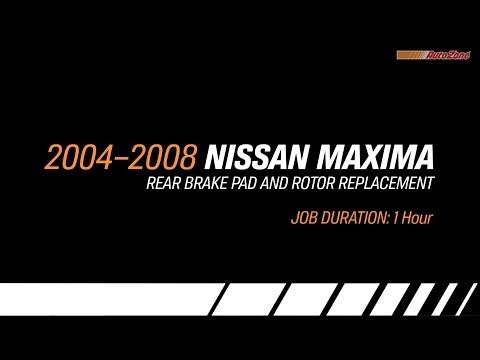 2004 Nissan Maxima Rear Brake Pads & Rotors Replacement – Make Model Series