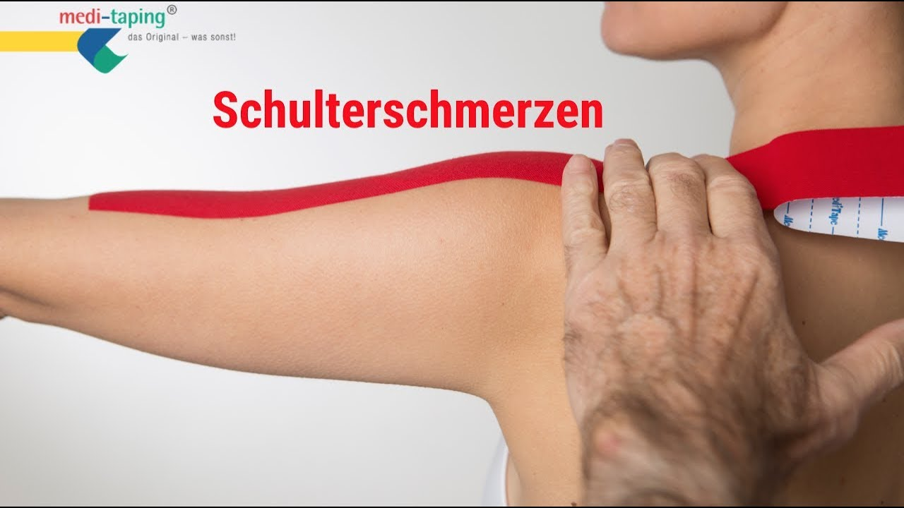 Kinesiologisches Taping an der Schulter