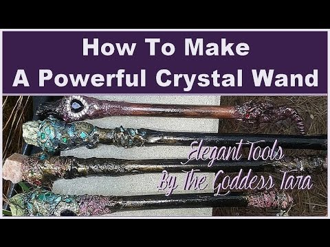 ♥★♥How to Make a powerful  crystal wand