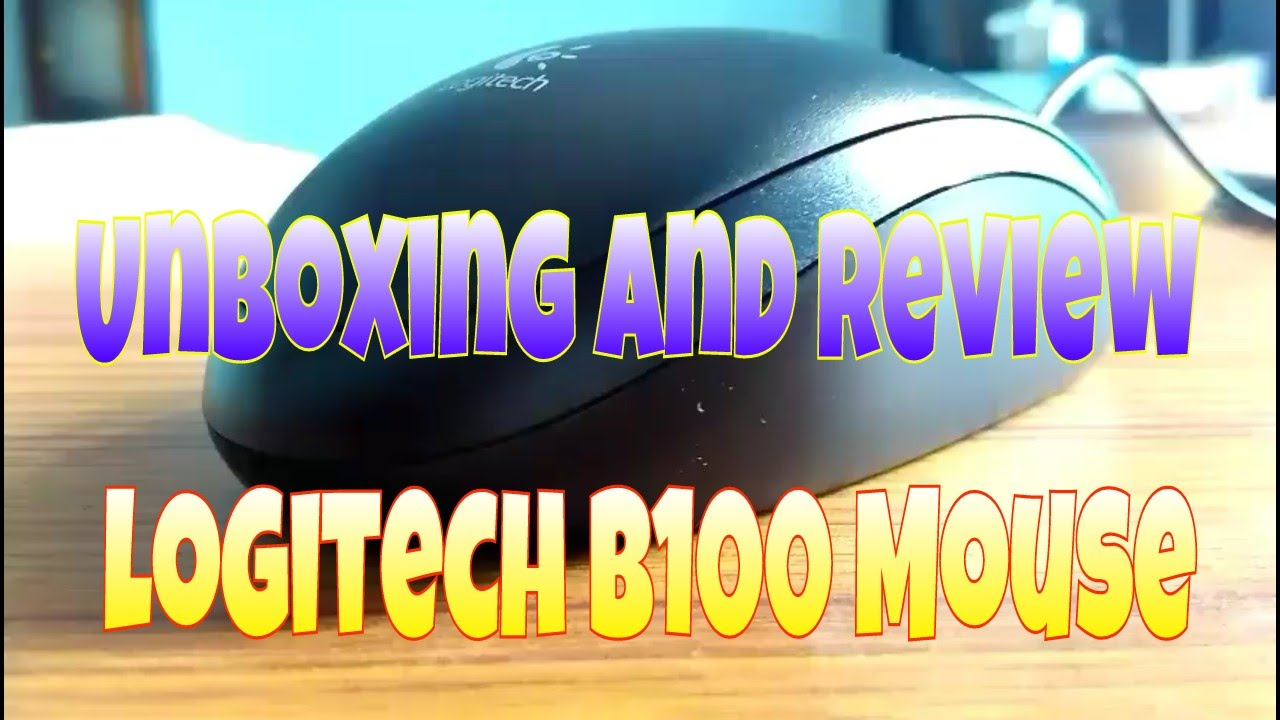 Unboxing And Review Of Logitech B100 Optical Mouse Best Budget Usb Original