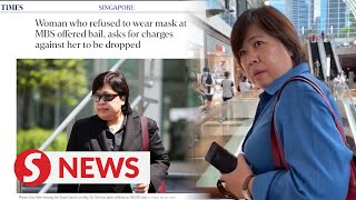 Singapore woman who refused to wear mask at MBS offered bail, asks for charges to be dropped