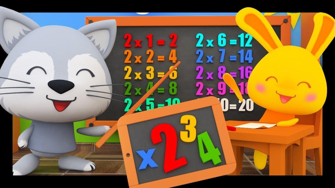 les tables de multiplications par 2 3 et 4 en chansons pour les enfants titounis