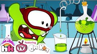 OM NOM STORIES: SUPER FUN SCIENTIST Dream Job Cut The Rope Funny Cartoons for Children HooplaKidzTV