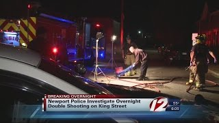 Newport police investigate overnight double shooting