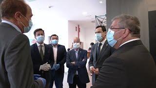 Juanma Moreno visita la provincia de Almería tras la declaración del estado de alarma