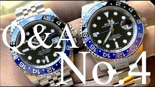 Q&A No.4 - Rolex BLNR. Omega or Seiko? Milgauss. Two tone or not two tone?