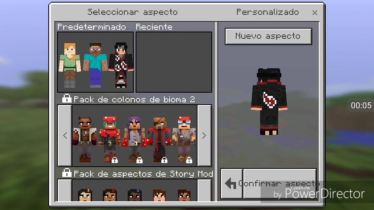 Pack de skins de itachi uchiha // Minecraftpe 11.11.11 by chaixs gamer
