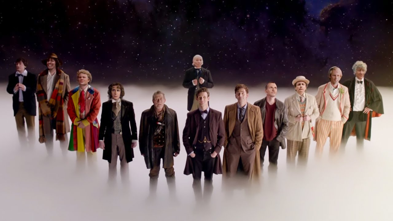 twelve doctors stand together the doctor dreams doctor who the