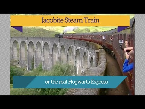 A trip on the Jacobite Train or Hogwarts Express from Fort William To Mallaig 2017 Scotland