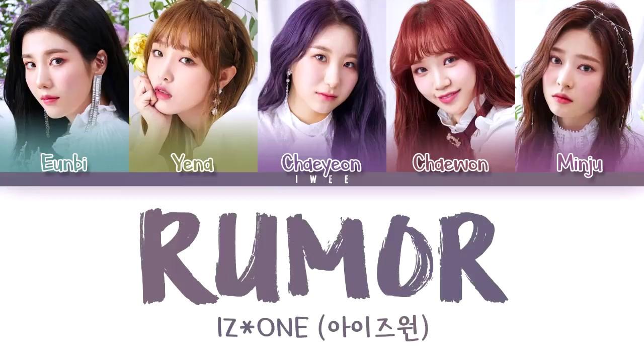 IZ*ONE (아이즈원) - Rumor (Han|Rom|Eng) Color Coded Lyrics/한국어 가사