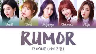 Download IZ*ONE (아이즈원) - Rumor (Han|Rom|Eng) Color Coded Lyrics/한국어 가사 Mp3