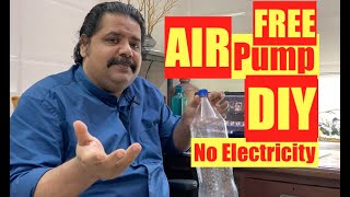 DIY | How to make Air Pump at Home | Air Pump for Fish Tank with Plastic Bottle | NO Electricity