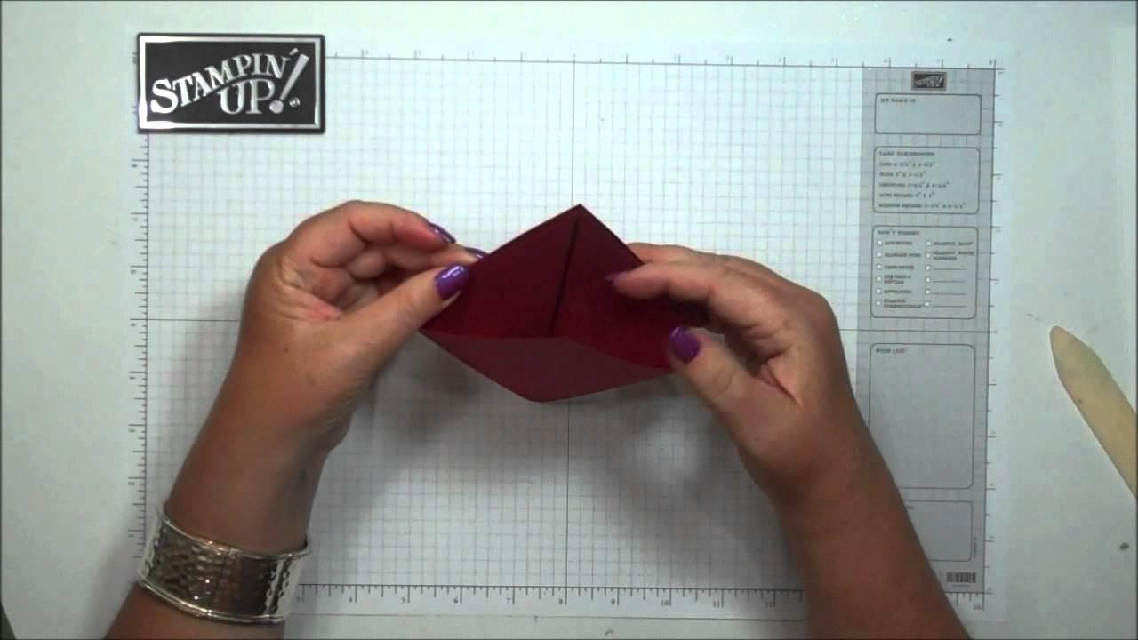 Fancy Fold Christmas Card Youtube