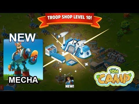 Talking Tom Camp - Troop Shop Level 10 - New Troop Mecha