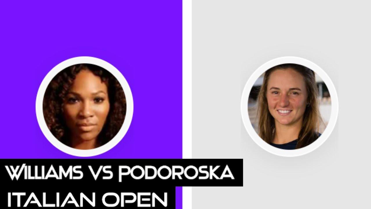 Download Serena Williams vs Nadia Podoroska | Italian Open 2021