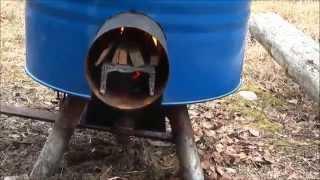 Simple DIY rocket stove producing hot water/food and charcoal