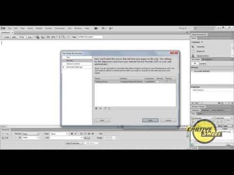 How to create a Testing Server with XAMPP in dreamweaver CS6.