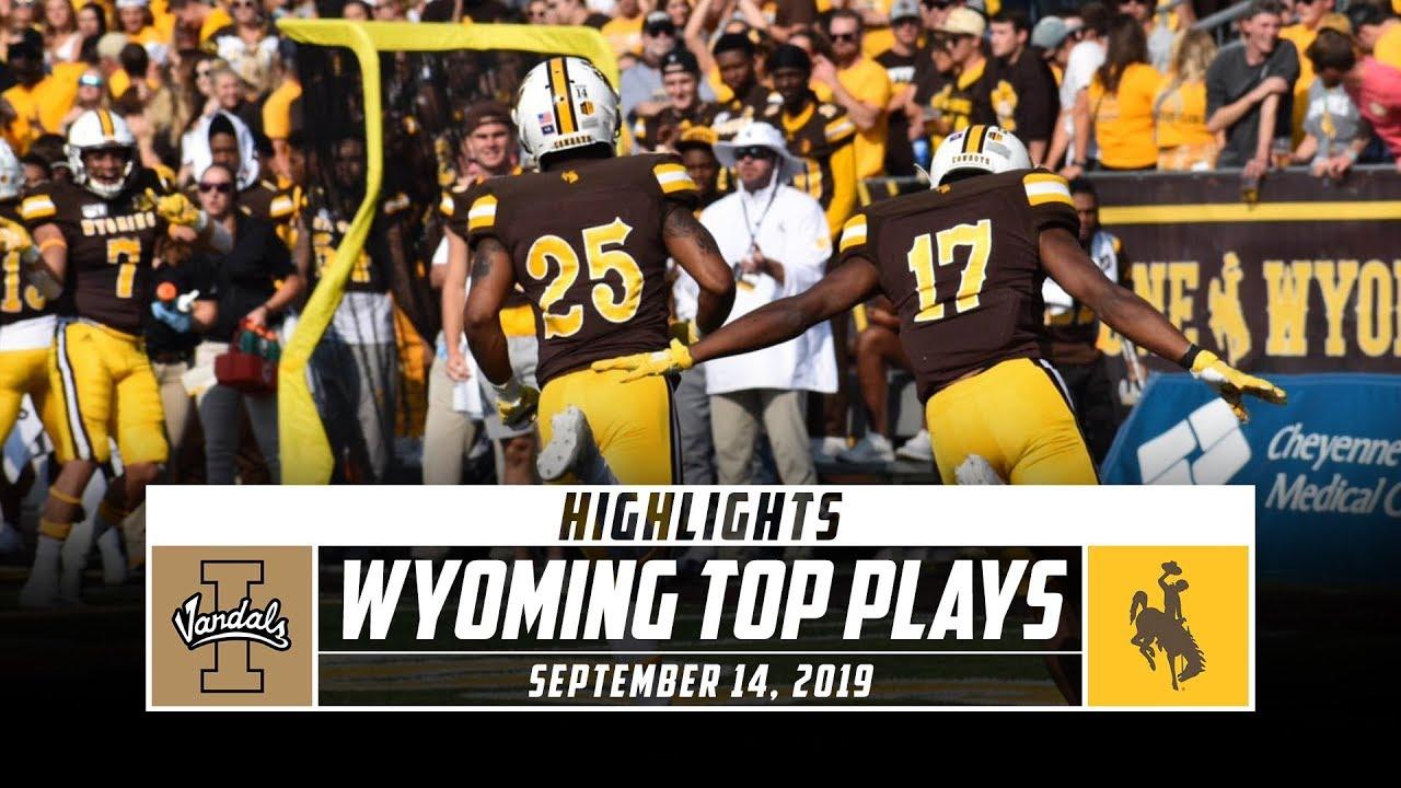 superior quality 61c5e edbce Wyoming Football Top Plays vs. Idaho (2019)   Stadium