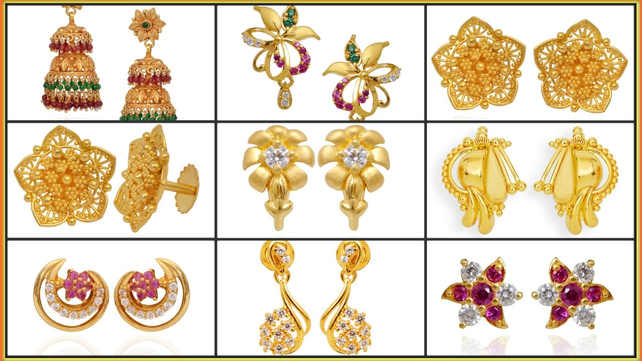 ✱ ✱ ✱Latest gold earrings designs✱ ✱ gold earring ✱ gold ...