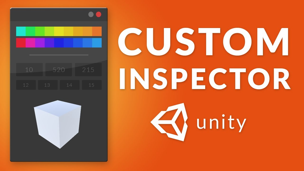 How to make a CUSTOM INSPECTOR in Unity