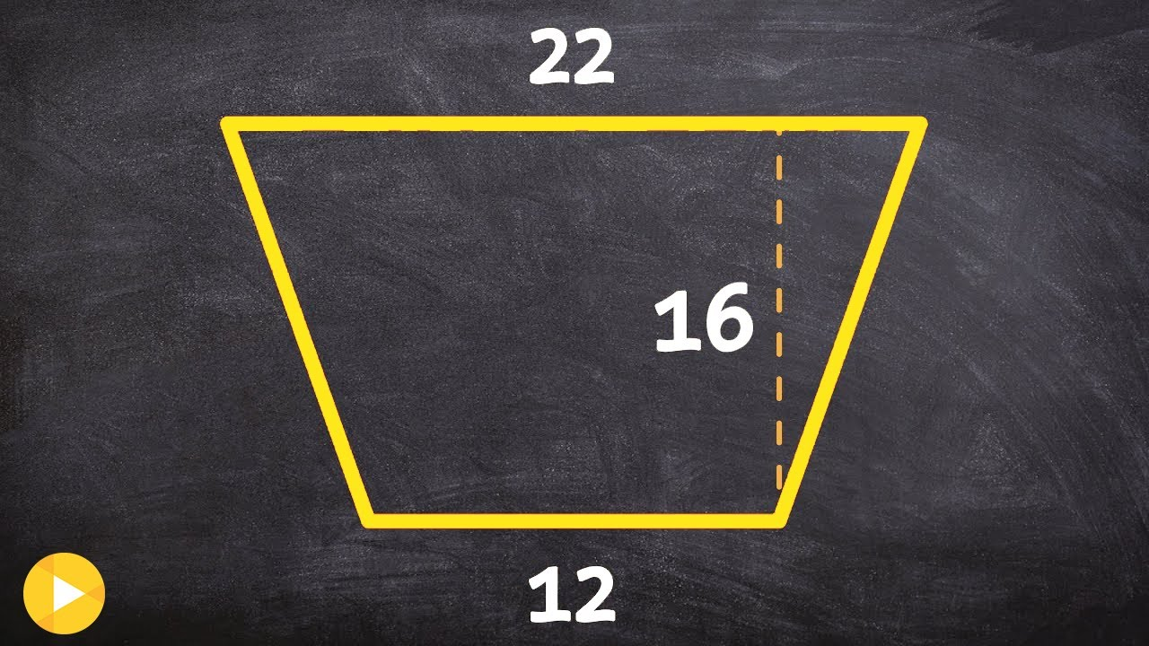 Geometry  How To Find The Area Of A Trapezoid Using The Formula  Youtube