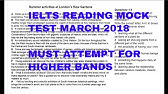 IELTS Academic Reading Practice Test [with Answers] - YouTube