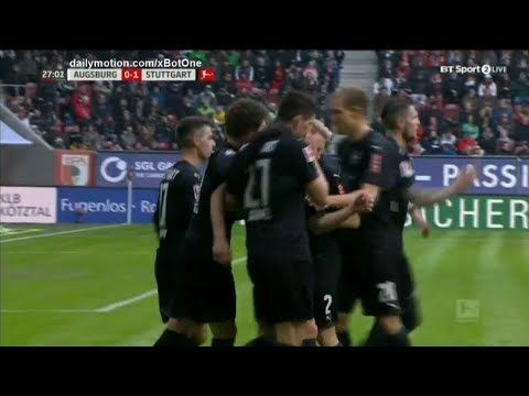 Mario Gomez Tor Vs Augsburg | VFB Stuttgart - Augsburg 1-0 | 18.2.18