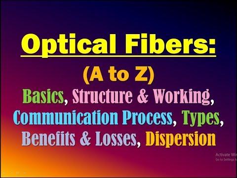 Optical Fiber Communication: Basics, Structure, Working, Process,Types,Benefits & Losses, Dispersion
