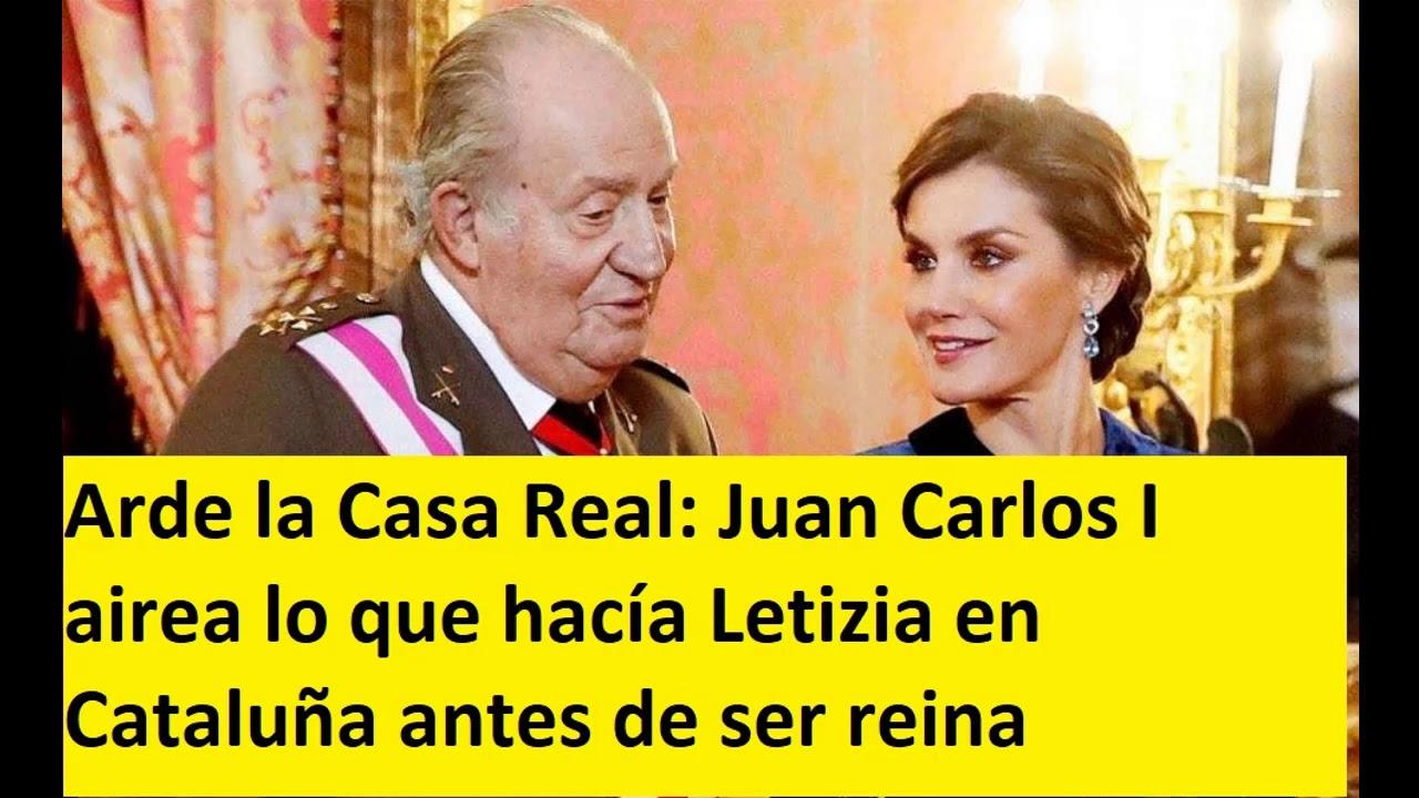 Arde la Casa Real: Juan Carlos I airea lo que hacía Letizia en Cataluña antes de ser reina