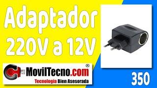 Adaptador Transformador de 220 a 12 voltios en MovilTecno.com