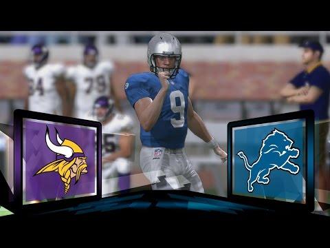 Madden NFL 17 Detroit Lions Franchise- Year 2 Game 13 vs Minnesota Vikings