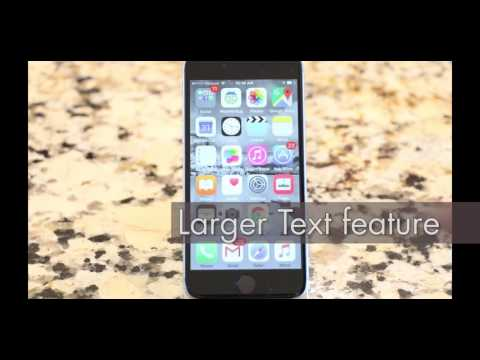 Making text large, bold, and easier to see on iPhone and iPad