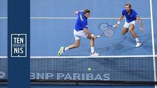 Coupe Davis 2018 - France / Espagne - Les highlights de Mahut-Benneteau vs Lopez-Granollers !   FFT