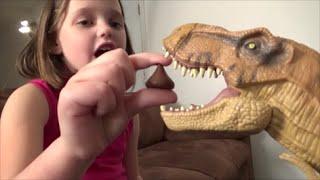 "Pet Dinosaur Pranks Annabelle ""Toy Freaks Dinosaurs Prank"" T Rex"