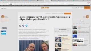 Le pape créé la polémique avec ses propos sur l'homosexualité
