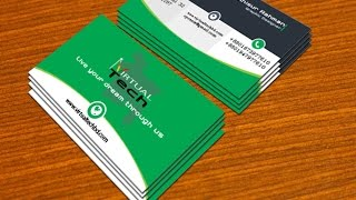 Adobe illustrator professional business card design with mock up part  2