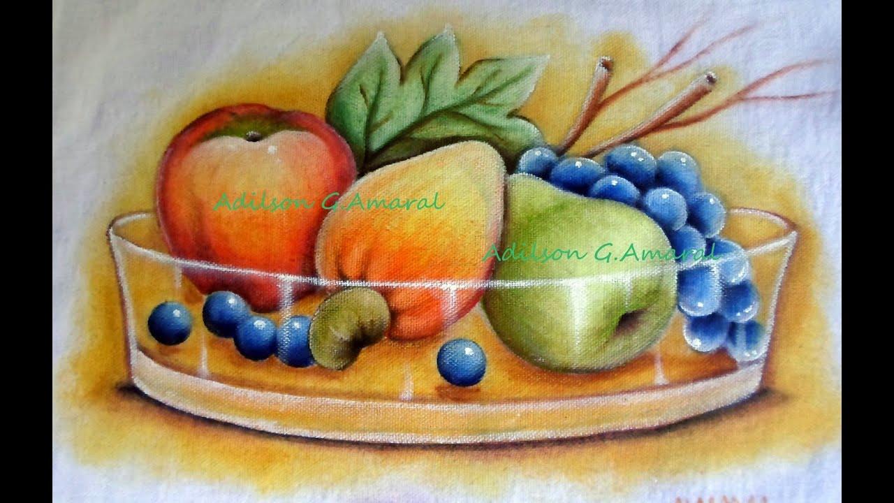Frutas pintura em tecido youtube - Decorarte pinturas ...