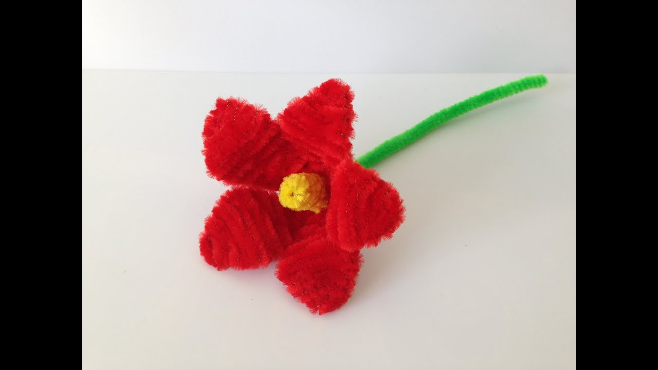 How to make a pipe cleaner lily youtube for Cool things to do with roses