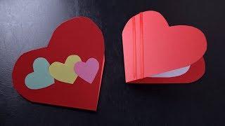 Grußkarte als Herz basteln