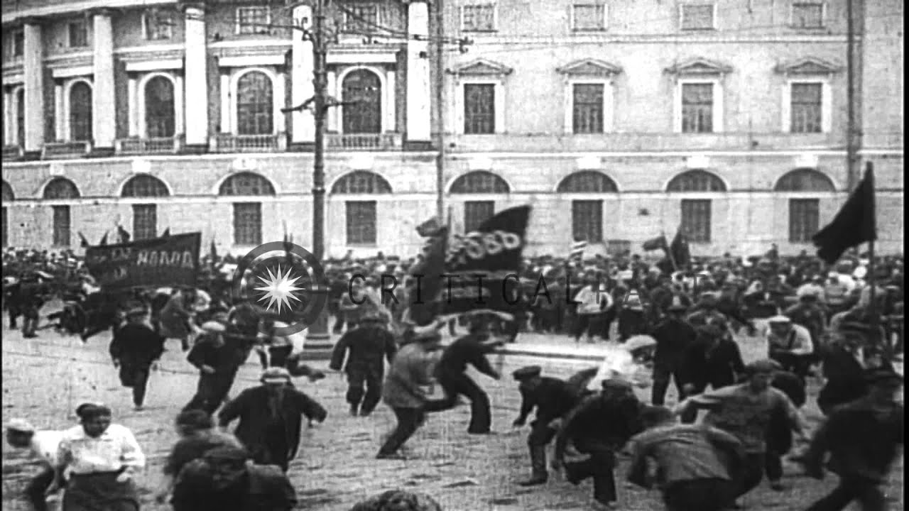 Lenin S Activities Early In 1917 Mass Demonstrations