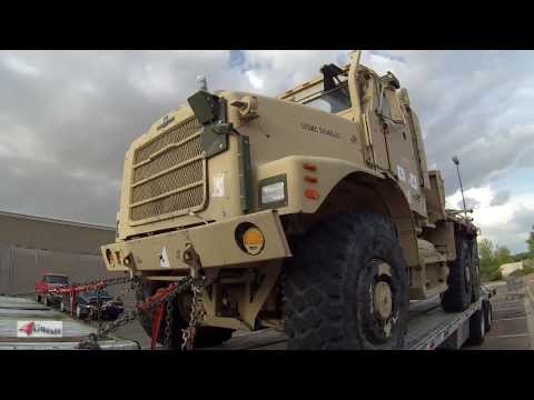Truck Driving Job transporting Military Vehicles