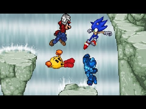 Mario Vs Sonic Vs Megaman Vs Pacman SSF2: Play as S...