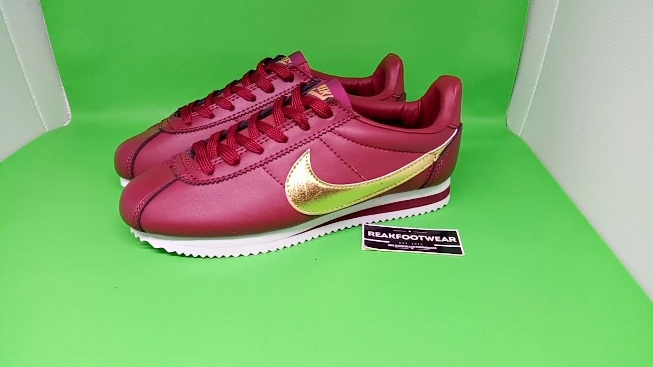 super popular 9176a 40630 ... clearance nike cortez leather team red metallic gold d3469 0cace