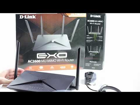 Unboxing D-Link DIR-882 MU-MIMO 802.11ac Wave 2 Dual Band Gigabit Router