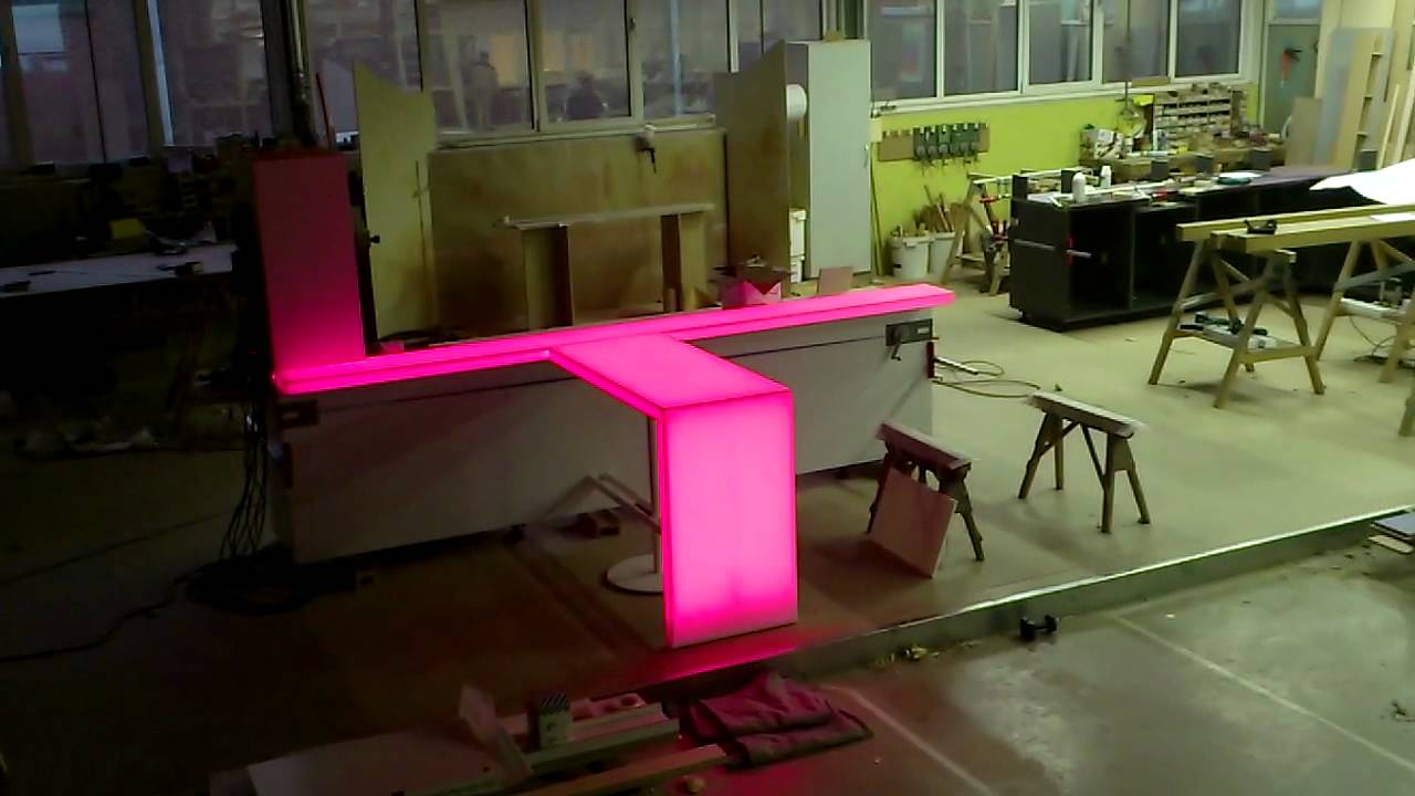 Corian With Led Lights Youtube