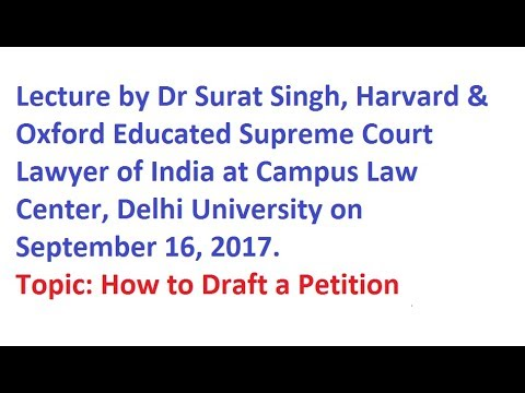 Top Lawyer Dr Surat Singh at Delhi University on Supreme Court Lawyering